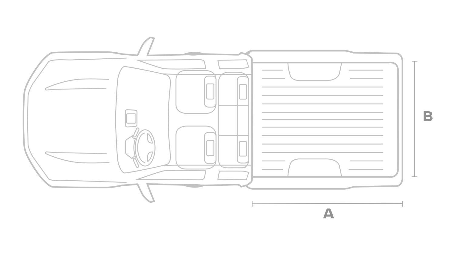 Nissan NAVARA King cab set fra oven illustration