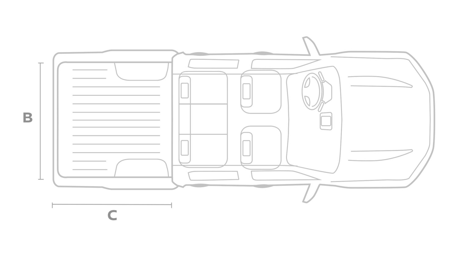 Nissan NAVARA Double cab set fra oven illustration