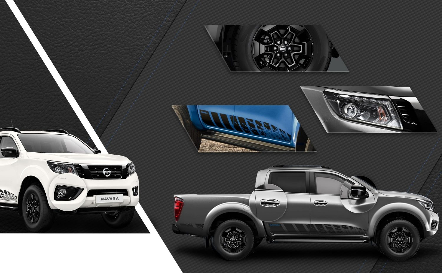NISSAN NAVARA N-GUARD Collage mit allen Außendesign-Stylingelementen