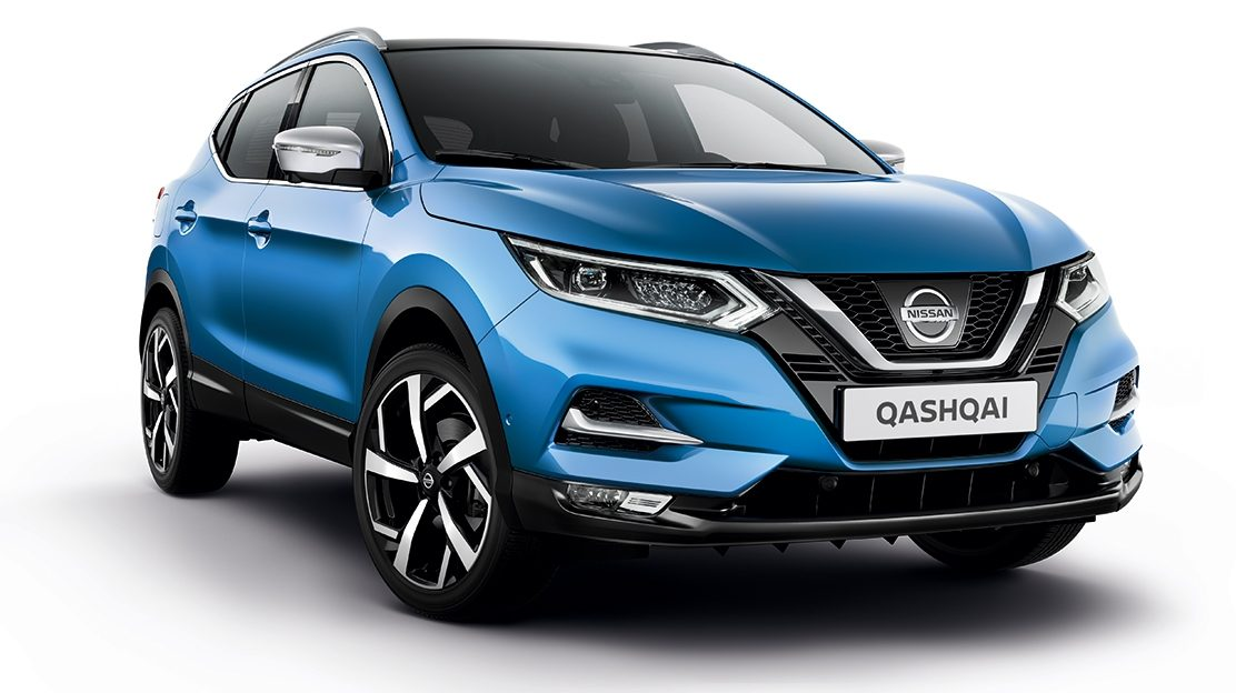Nissan QASHQAI azul - 3/4 front view