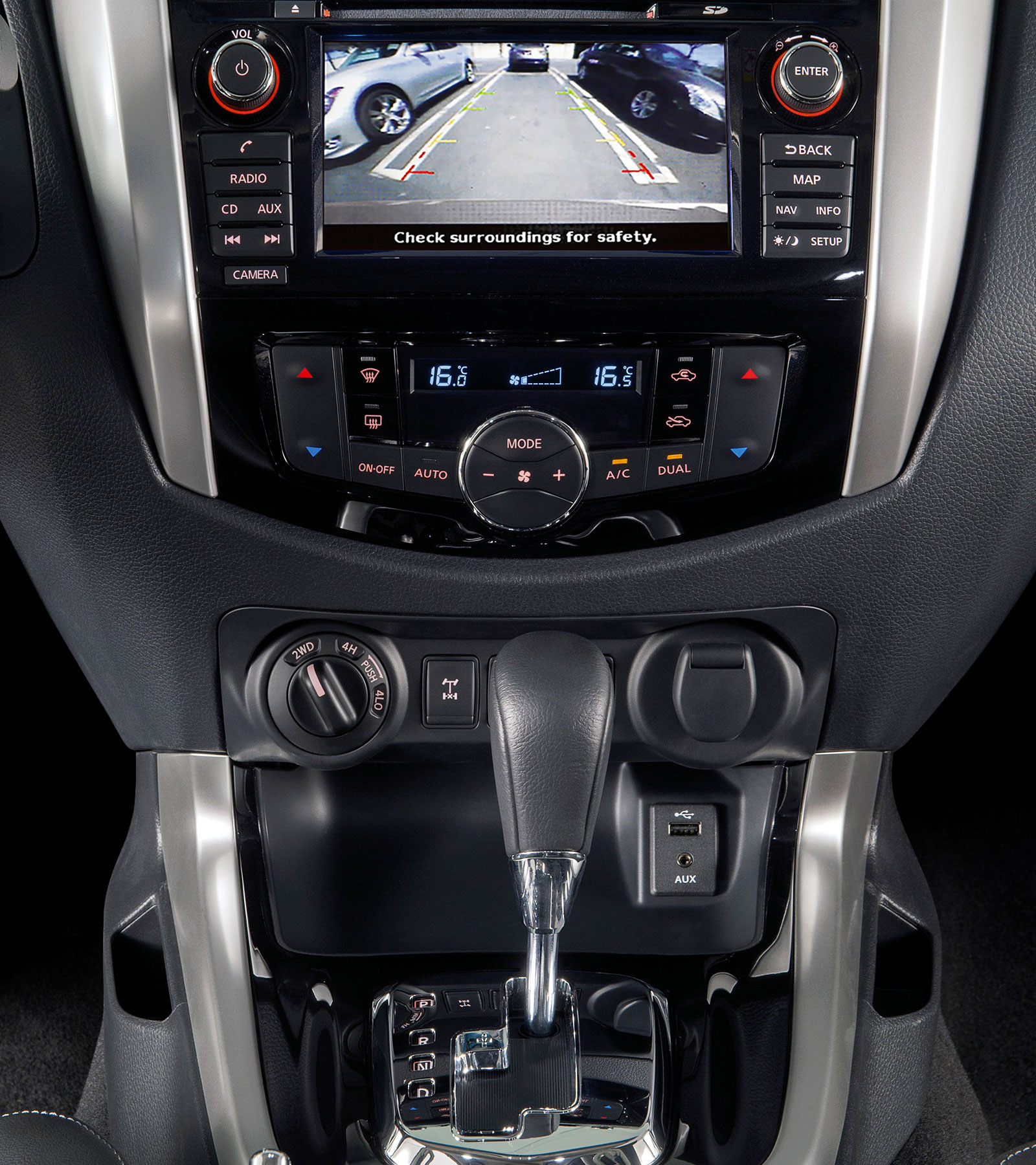 New Nissan Navara Off-Roader at32 pick-up around view monitor screen