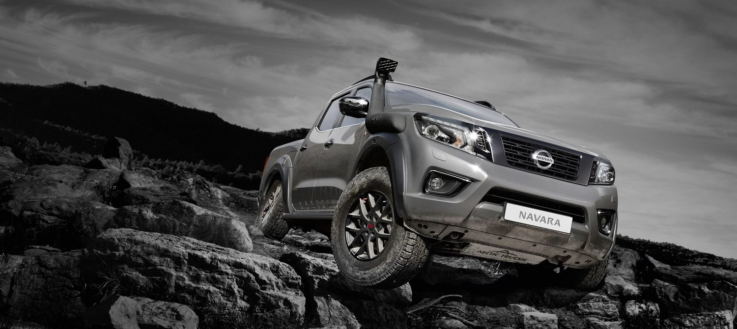 Nye Nissan NAVARA off-roader at32 pick-up, forhåndsvisning av heltbanner