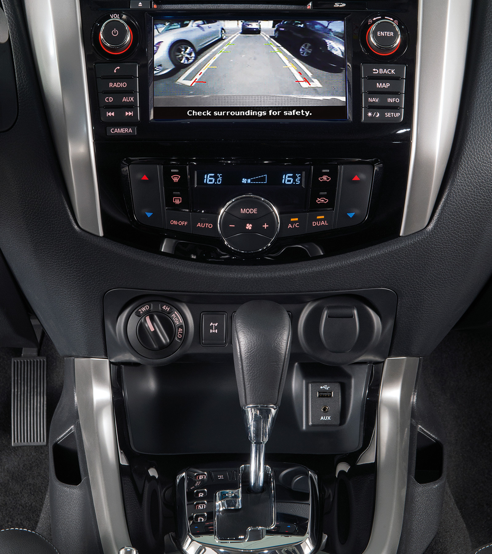 Nye Nissan NAVARA Off-Roader at32 – Around View Monitor-skjerm
