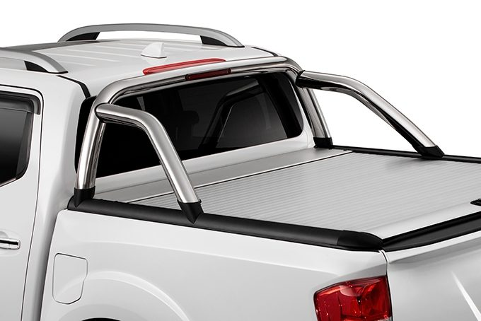 Nissan NP300 Navara Double Cab - Bed styling bar without spot lamps - Chrome