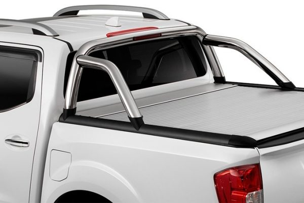 Nissan Navara bed styling bars stainless steel without light