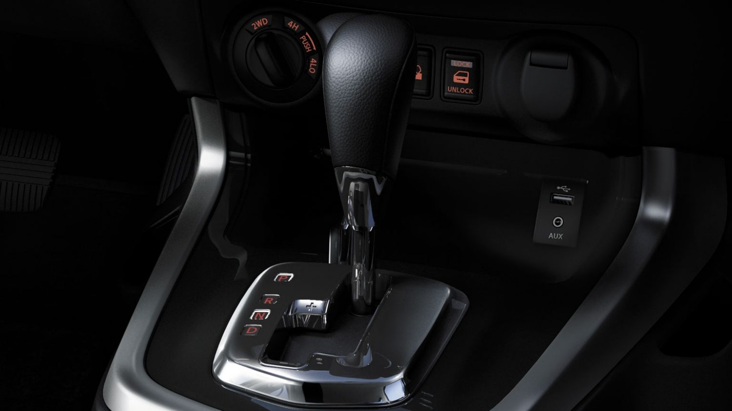 Nissan NP300 Navara - 7-speed automatic transmission shifter