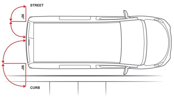 NISSAN NV200 - Overhead illustration showing rear doors open