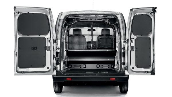 NISSAN NV200 - Shot of Rear Doors Open with Cargo Loaded