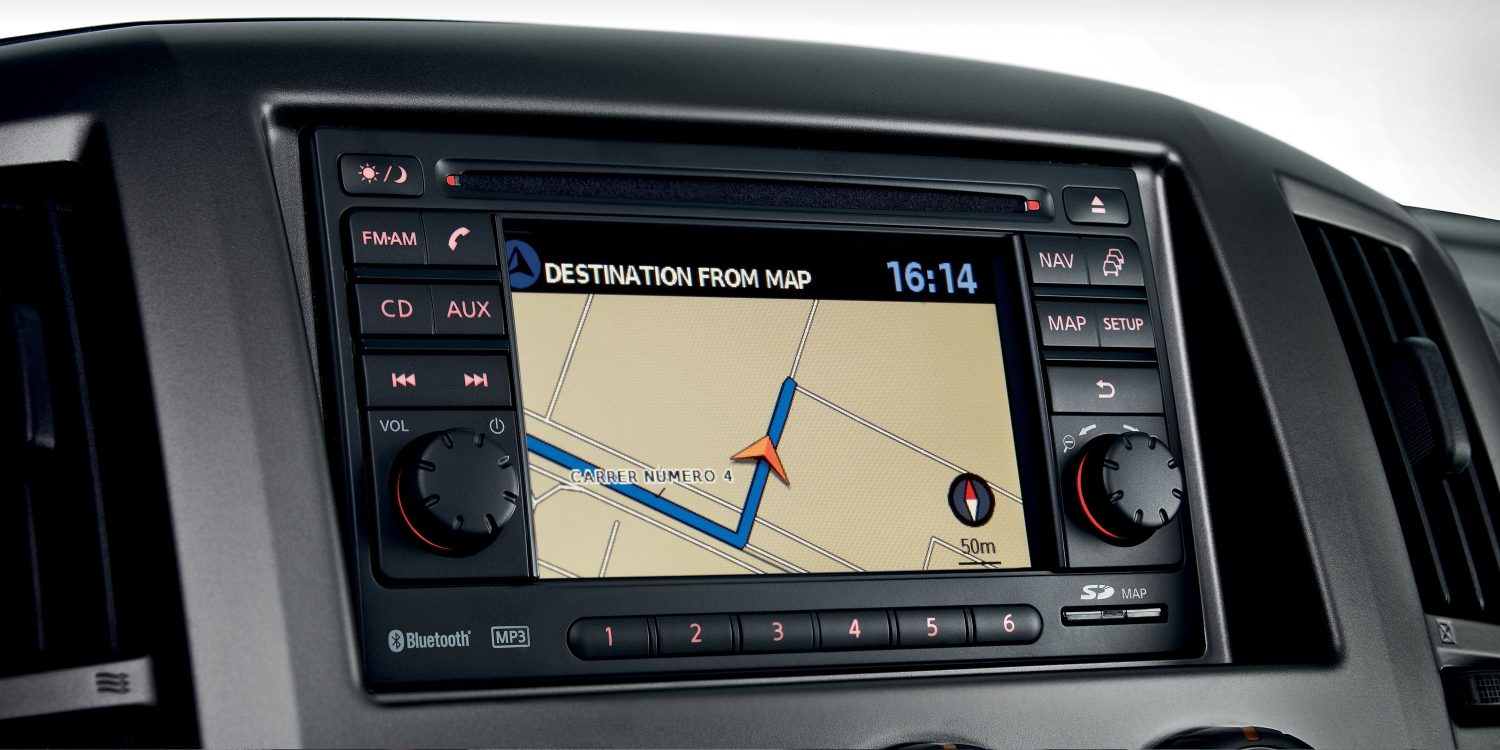 Nissan NV200 - Navigation Head Unit Detail