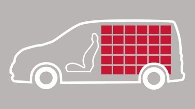 Nissan NV200 - NV200 cargo bay illustration