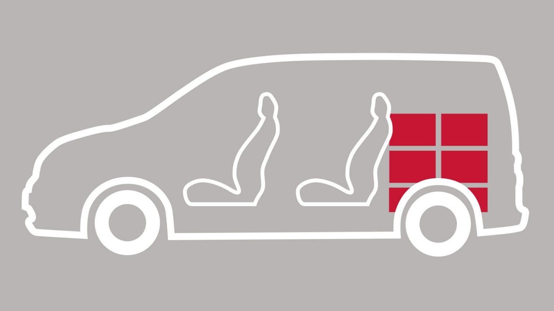 NV200 Combi – sedišča in tovorni prostor