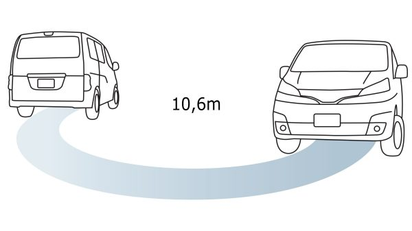 Nissan NV200 - Small best-in-class turning circle
