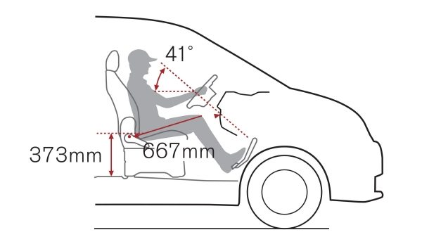 Nissan NV200 - High driving position
