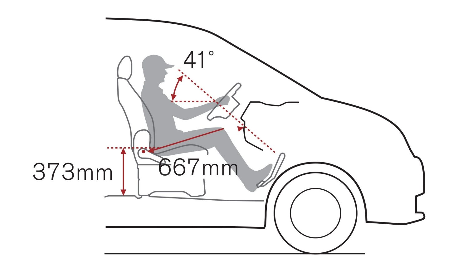 NISSAN NV200 – position assise rehaussée