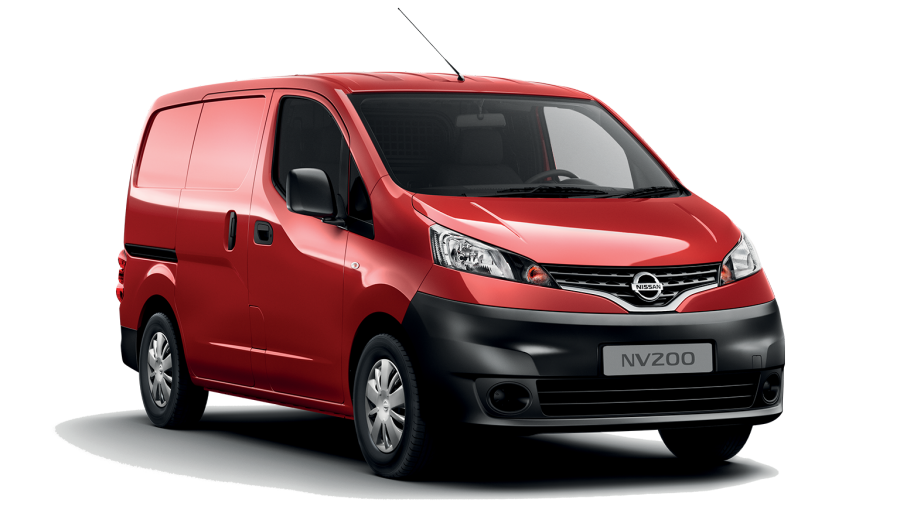 Nissan e-NV200 red - side view
