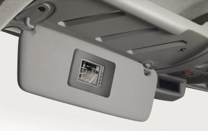Nissan NV400 - Interior - Rear view camera (screen in front sunblind)