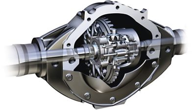 Nissan NV400 - Locking differential to improve traction