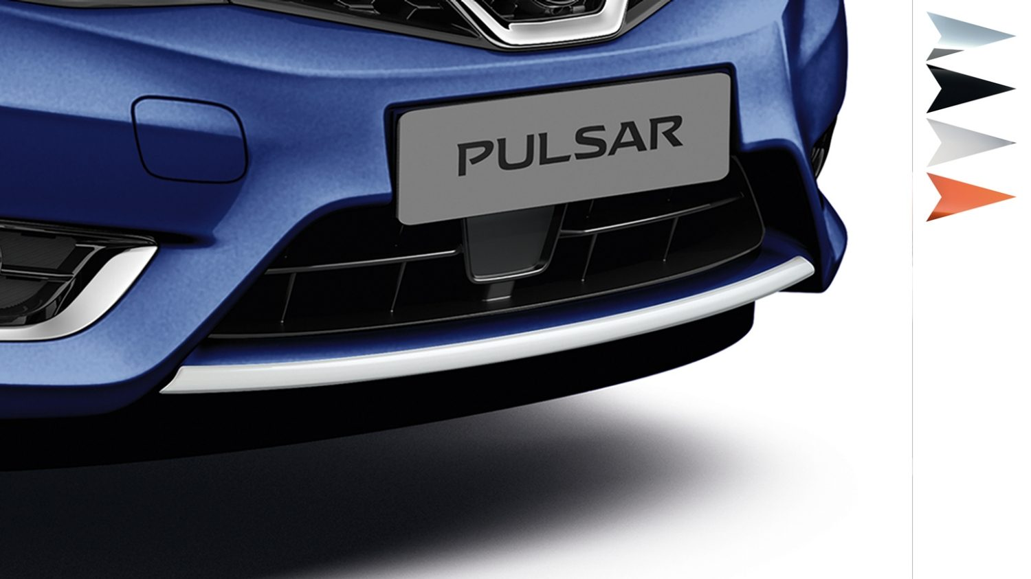 Nissan Pulsar hatchback - Front lip finisher london white