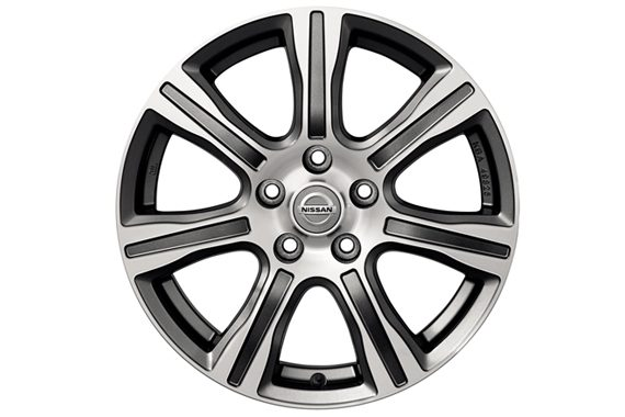 "Nissan Pulsar hatchback - 17"" bols alloy wheel dark grey diamond cut"