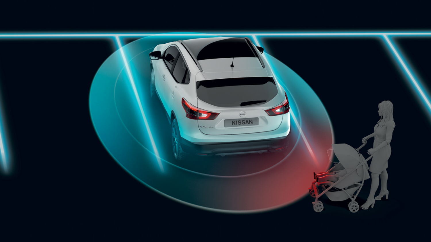 Nissan PULSAR bybil – Illustration af Moving Object Detection