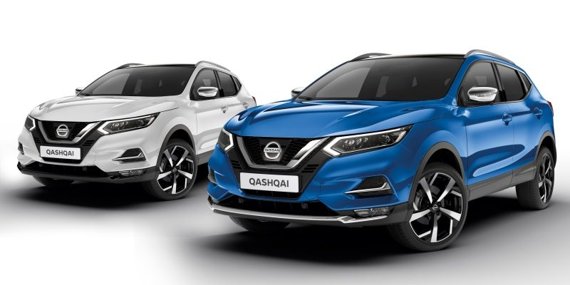 NISSAN QASHQAI Eleganz Pakete in Chrom-Optik und Black