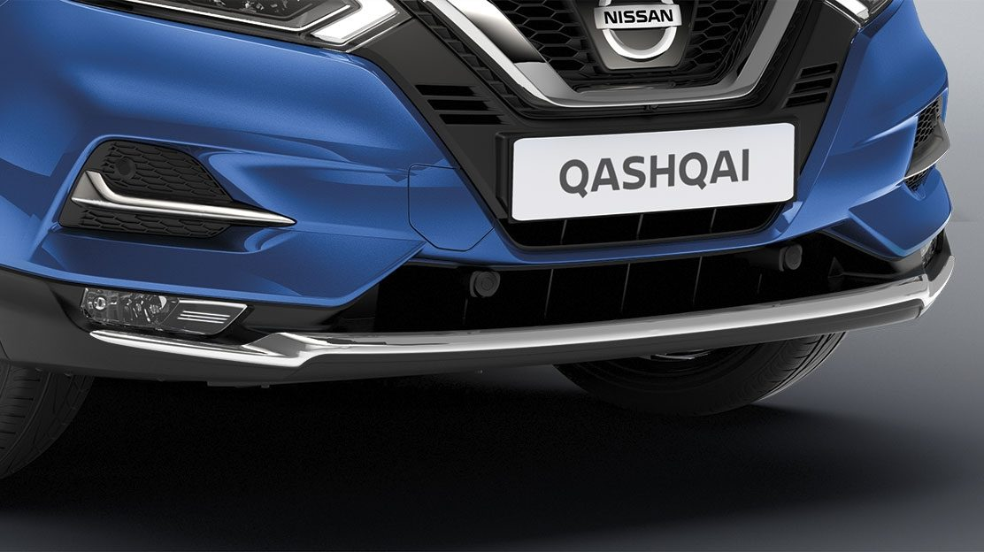 Qashqai front bumper finisher, chrome