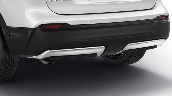 Qashqai pearl white lower rear bumper finisher