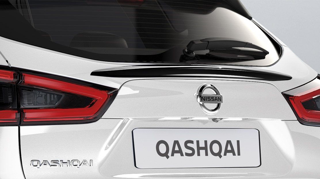 Qashqai rear glass finisher, black