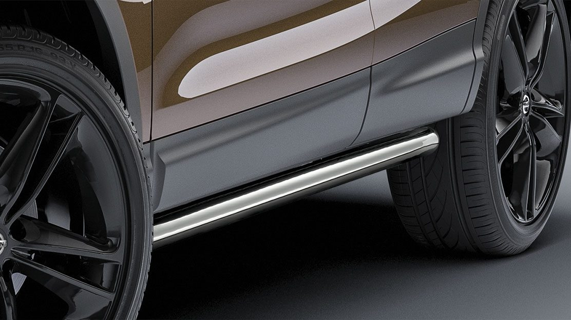 Qashqai stainless steel side styling bars