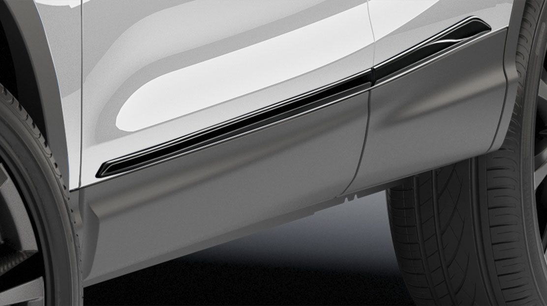 Qashqai side door sills, black