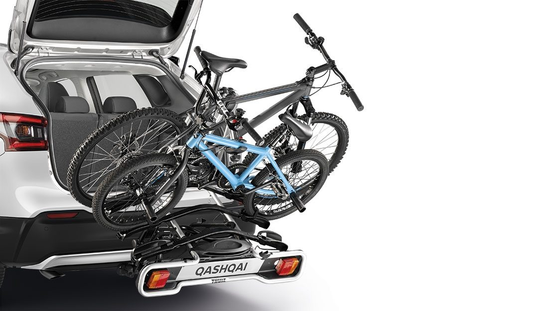 Qashqai bike carrier towbar foldable