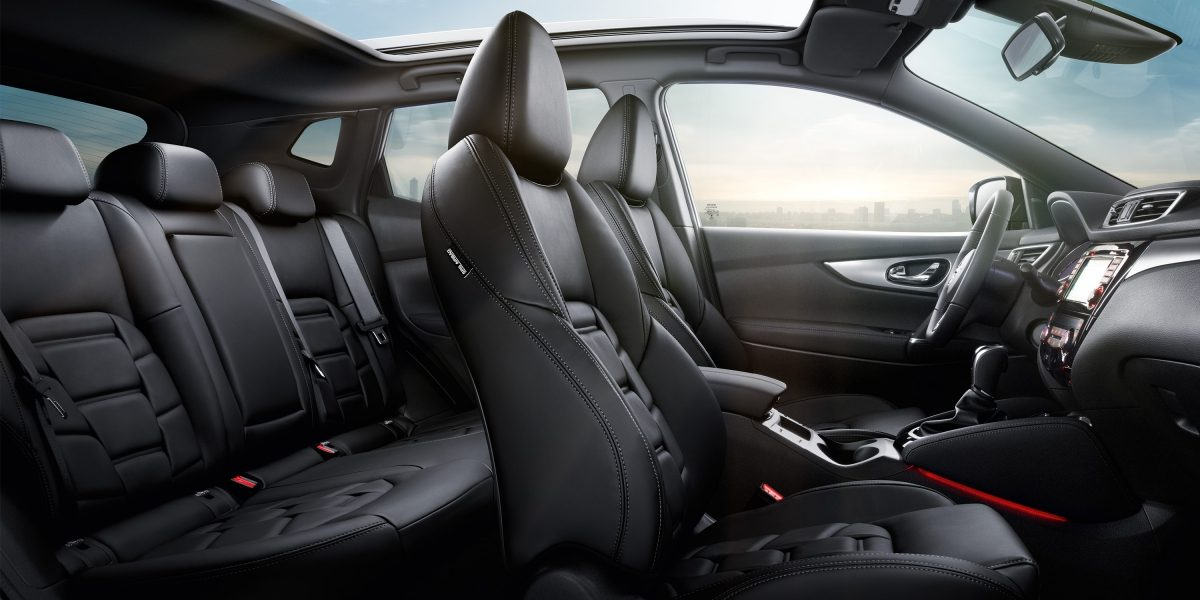 Qashqai Large interior - Black Premium Nappa Leather Trim Monoform style seats