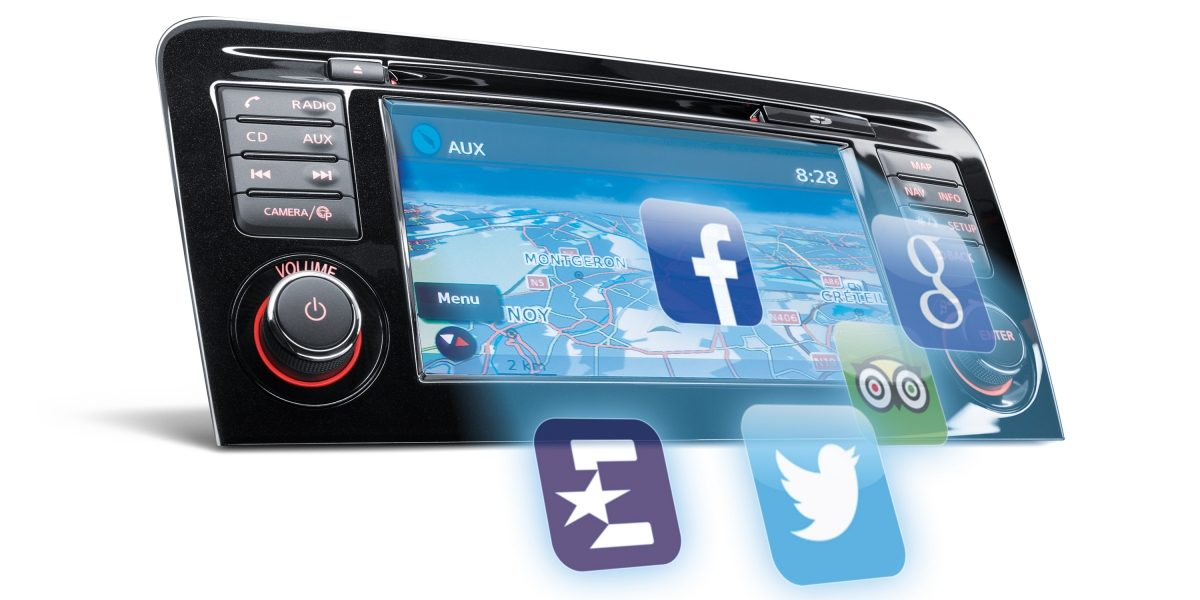 Qashqai NissanConnect screen Apps icons