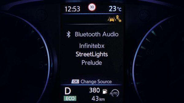 NISSAN QASHQAI Bluetooth® Audio-Bildschirm
