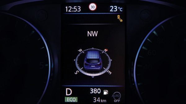 Qashqai TFT screen compass