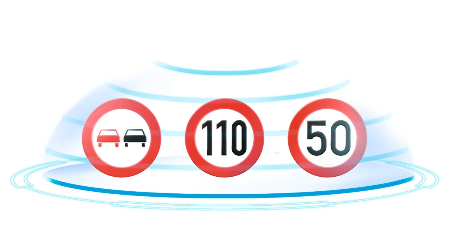Nissan QASHQAI illustratie Traffic Sign Recognition