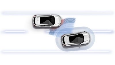 Qashqai Blind Spot Warning illustration