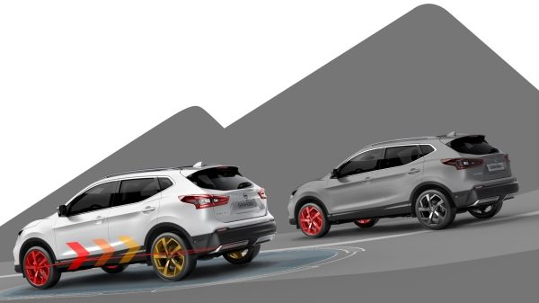 Illustrazione intelligent 4x4 Nissan QASHQAI