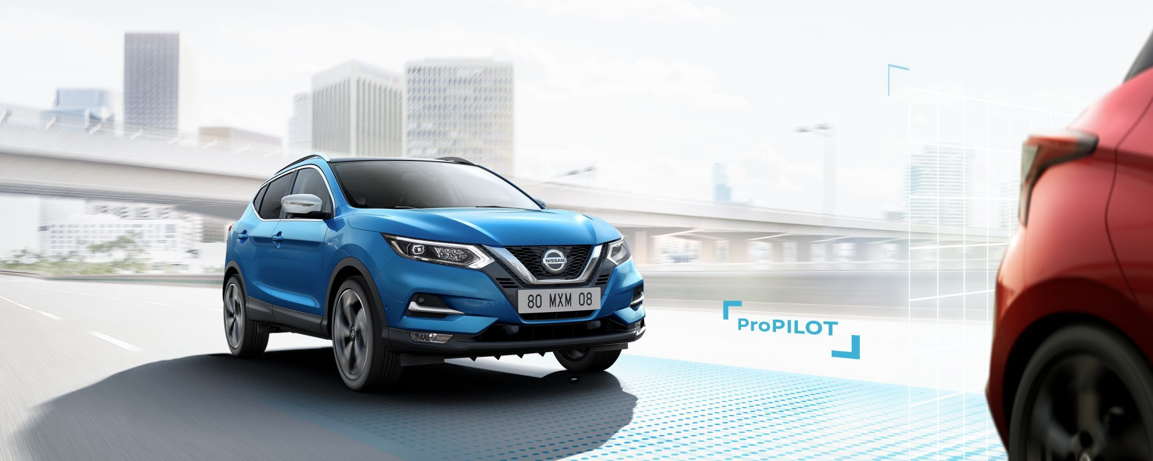 New Qashqai with ProPilot driving shot on highway