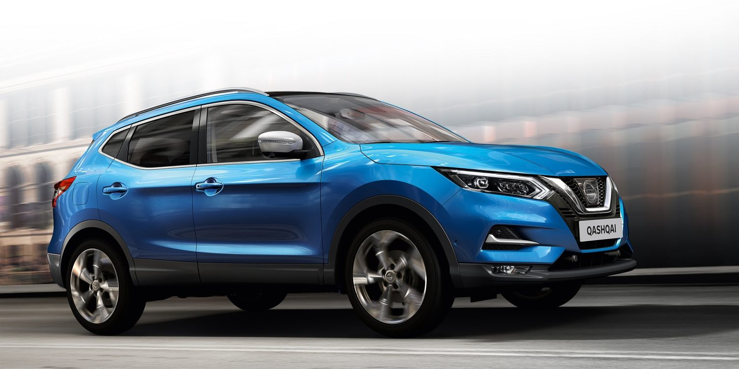 Nissan QASHQAI in movimento immagine anteriore
