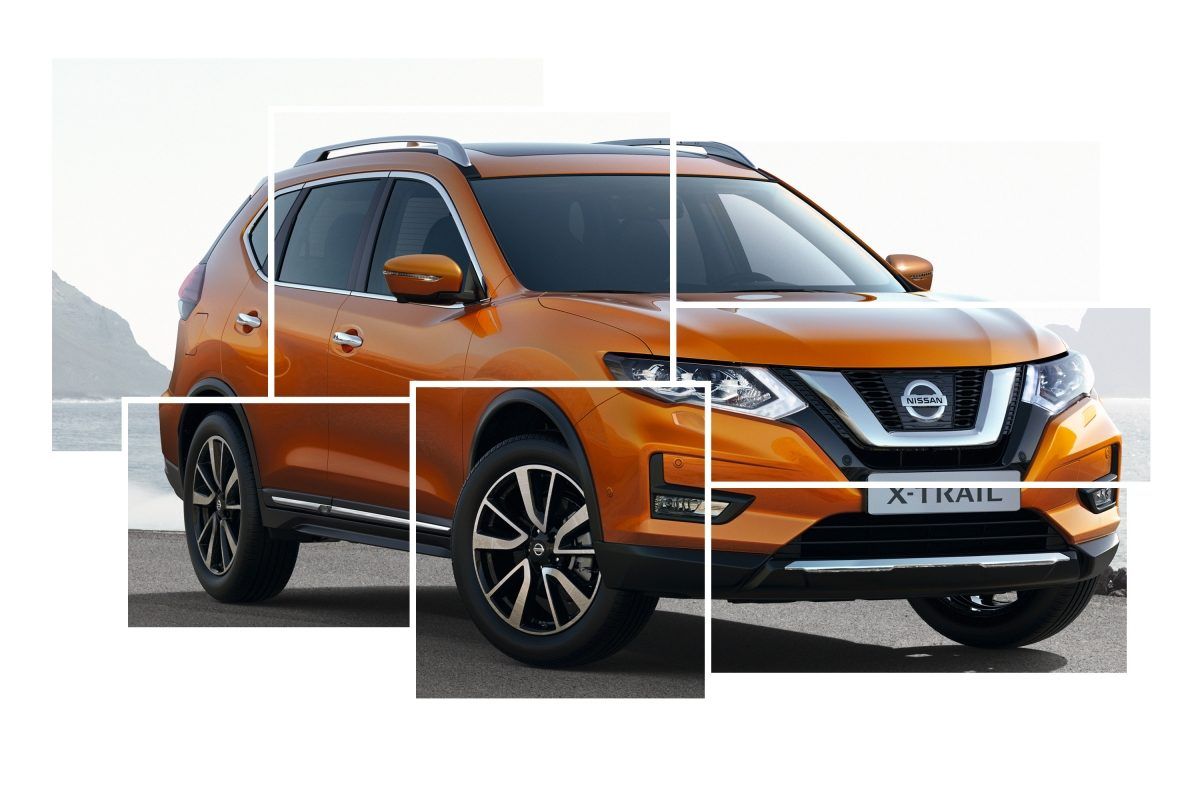 Nissan X-TRAIL, collage av eksteriørdesign, generelt