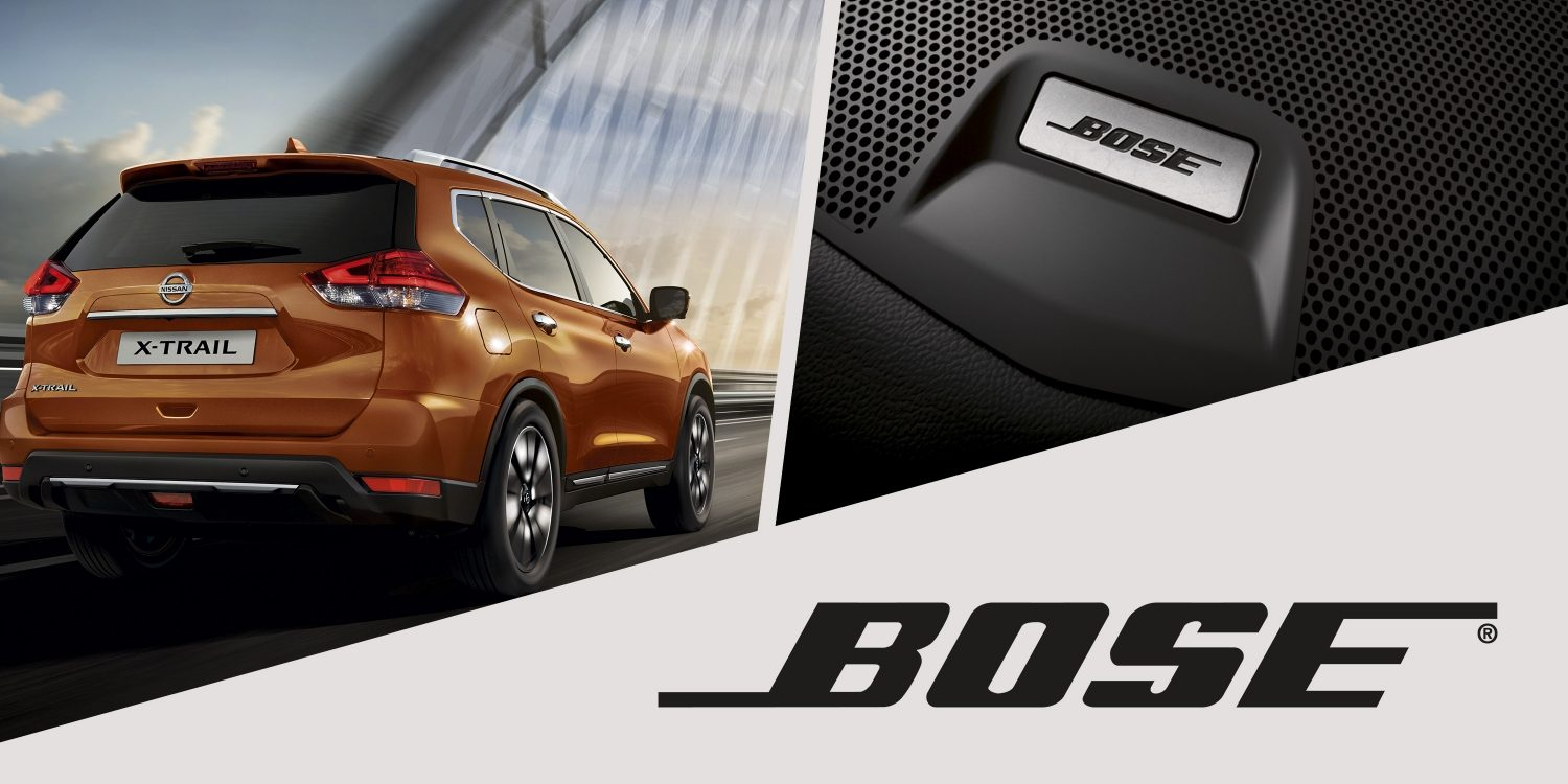 X-Trail Bose audio system collage
