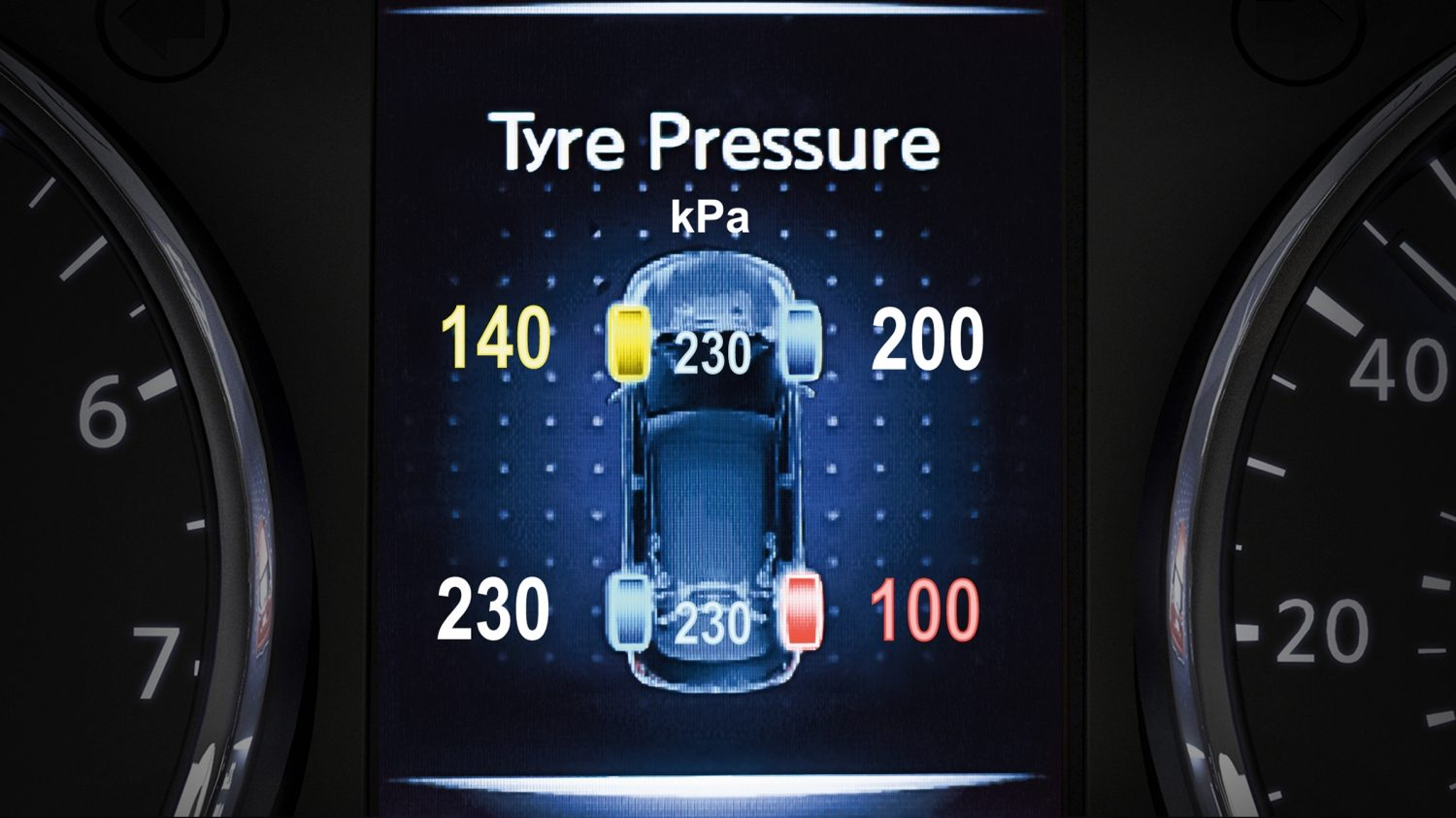 X-Trail TFT screen - Tyre Pressure Monitoring System
