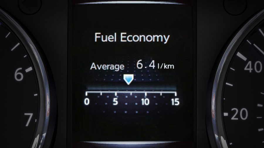 X-Trail TFT screen - Average Consumption