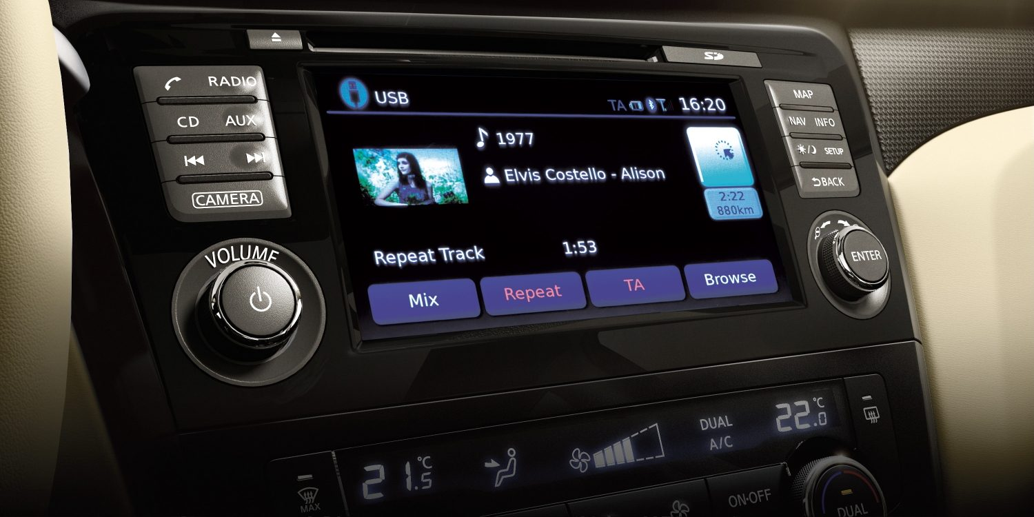 X-Trail NissanConnect screen - Smartphone integration