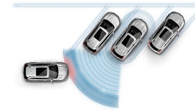 Nissan X-TRAIL Cross Traffic Alert, illustration