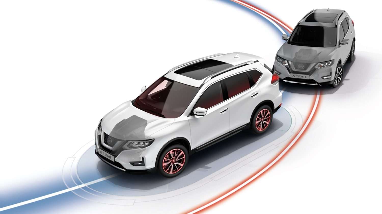 Illustratie - Nissan X-TRAIL Intelligent Trace Control