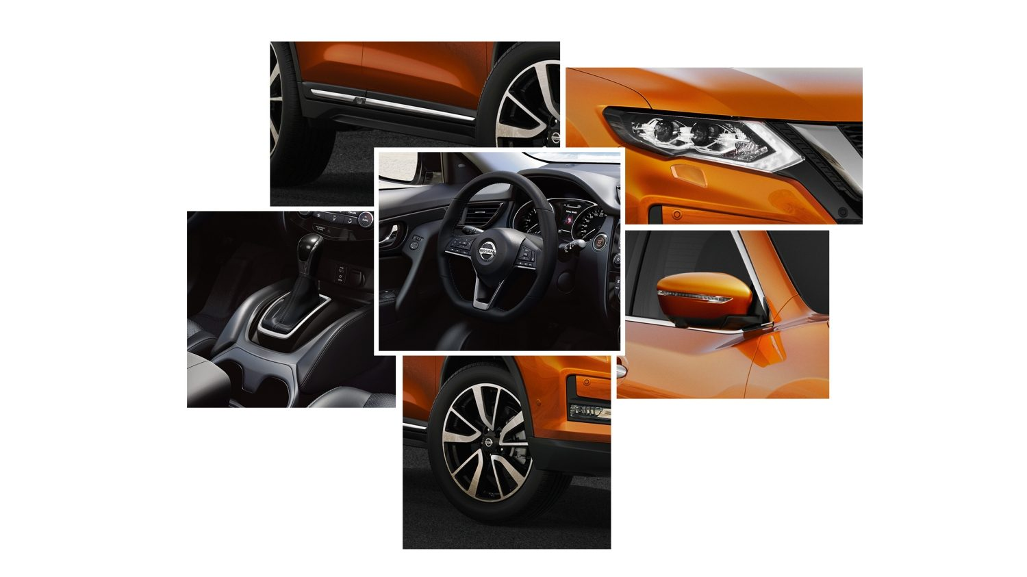 Colagem de design do Nissan X-TRAIL 2017