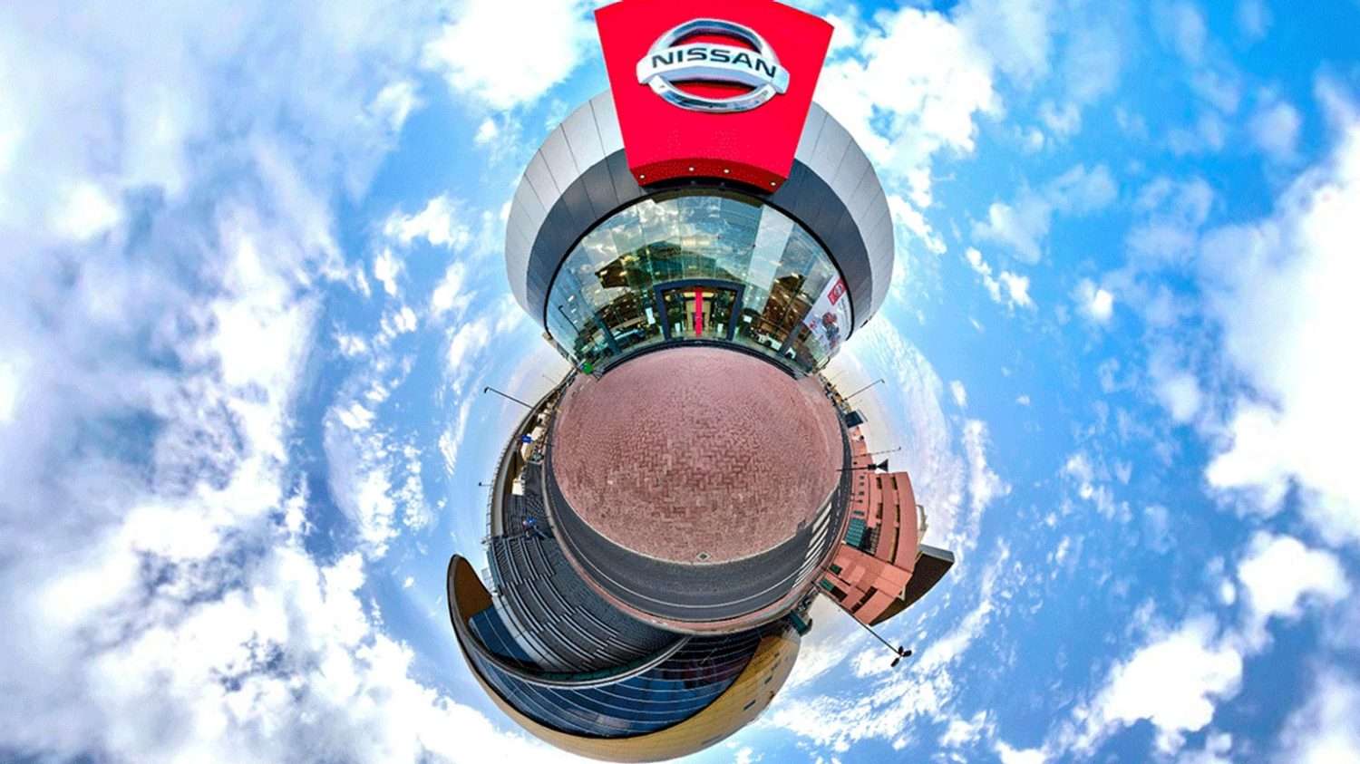 virtual 360 of a Nissan showroom