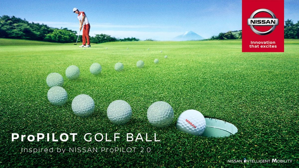 Nissan's ProPILOT golf ball turns every driver into a pro